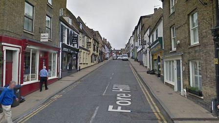 Speed bumps installed on Fore Hill to slow down drivers. Picture: GOOGLE EARTH