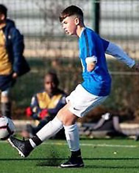 Connor Bird (right) will be aiming for national glory with Peterborough United Amputees next week. P