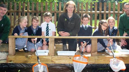 Pupils at King's Ely Acremont enjoy taking part at the new conservation area opening. Picture: JORDA