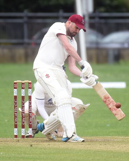 Ed Aniskowicz gets bat on ball for City of Ely as they beat Wilburton. Picture: IAN CARTER
