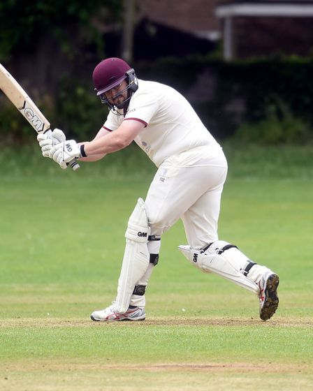 Andrew Foster in action for table-topping City of Ely against Wilburton. Picture: IAN CARTER