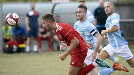 New Ely City signing Ryan Harnwell in action for previous club Wisbech Town. Picture: IAN CARTER