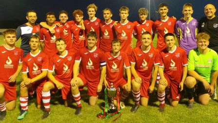 Ely City Under 18s won the first ever Unwin Trophy match on Thursday, which was attended by players