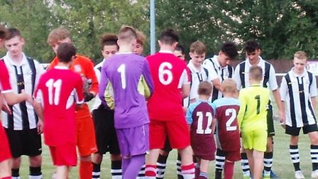 Ely City Under 18s played Long Melford Under 18s in the first ever Unwin Trophy to raise funds for