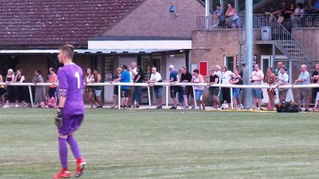 Players and supporters alike were out in numbers to support the Ely City Under 18s match that helped