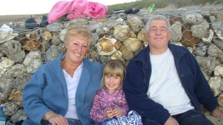 Sophie and her grandparents enjoy a holiday on Hunstanton beach. Sophie's grand mother died in a col