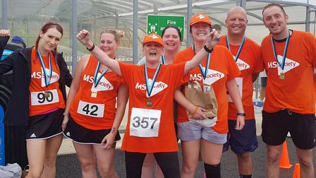 Littleport's MS 10k charity in celebratory mood folliowing the successful annual event. Picture: Cat