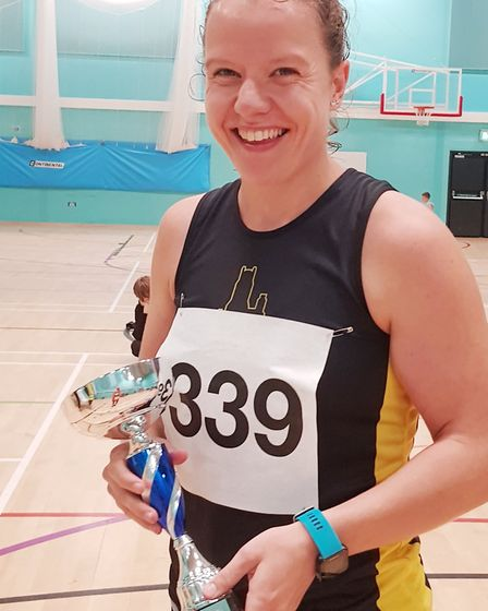 Bethan Everson first placed women's 10k winner representing Ely Runners clocking 38.00. Picture: Cat
