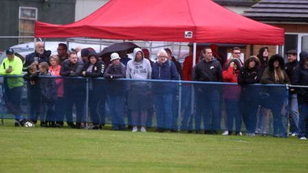 A big crowd watched Huntingdon Town triumph at Whittlesey Athletic. Picture: IAN CARTER