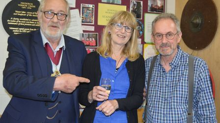 Ely Museum staff and volunteers meet ahead of closure for £2 million renovation. Picture: MIKE ROUSE