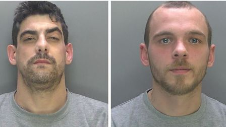 Craig Downer (left), 29 and Michael Esaw, 31, were each jailed today (Thu) for four years and six mo