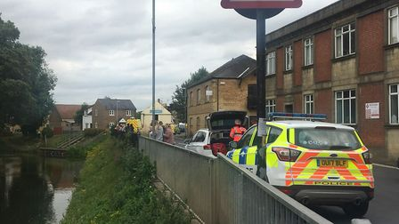 A man jumped into the river in March. Emergency services - including paramedics, firefighters and po