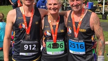 Members from Three Counties Running Club took part in various team and individual events recently, c