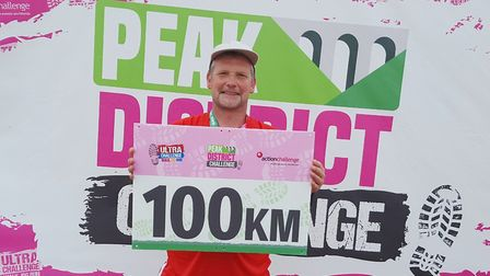 Postman Nick Winterton from March raised £1,500 after completing a gruelling 62 mile charity hike in