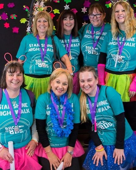 The Sing! Choirs walking team who helped fundraise for the Arthur Rank Hospice Charity this year. Pi