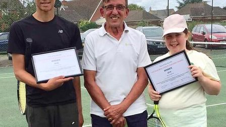 Two youngsters from Chatteris Tennis Club recently received the coveted Julie Wing Junior Coaching A