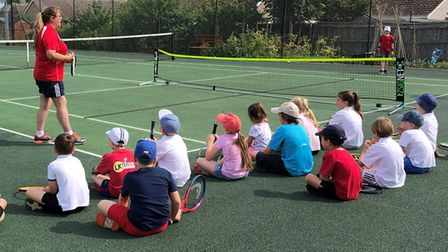 Chatteris Tennis Club are currently running junior coaching sessions and recently held a successful