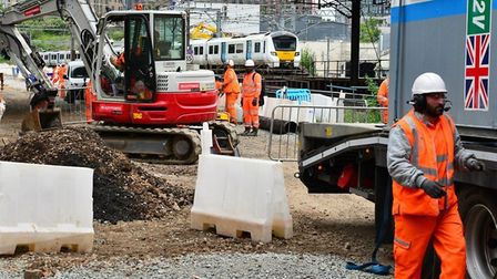 Works will be taking place along the East Coast main line next month. Picture: NETWORK RAIL