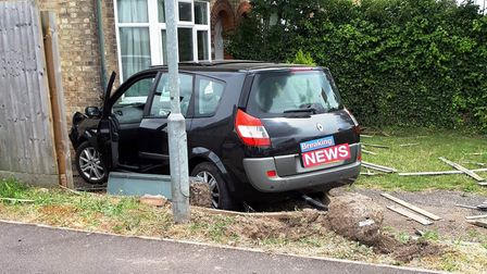 The end result of a police pursuit in Cambridge after a 21-year-old driver failed to stop for office