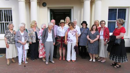 Members of the Ely Inner Wheel took a trip to Huntingdon to tour the town and meet the clerk Philip