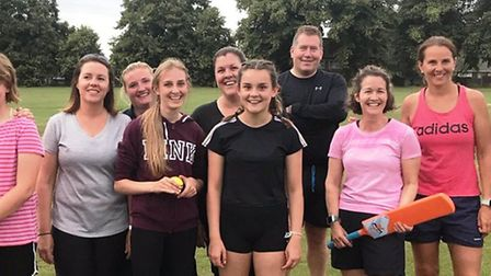 Some of the participants of City of Ely Cricket Club's women's sessions. Picture: REBECCA CASE-UPTON