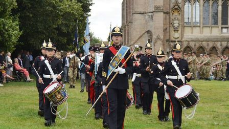 Honouring the men of the Cambridgeshire Regiment at the annual service and parade in Ely. Picture: L