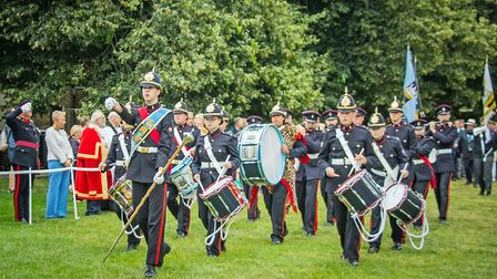 Honouring the men of the Cambridgeshire Regiment at the annual service and parade in Ely. Picture: H