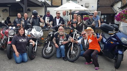 Littleport runners team up for charity: 363 MCC - Motorcycle Club with Cathy Gibb-de Swarte, one of
