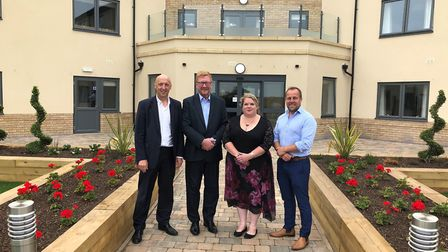 Official opening of the new 66-bed care home at Ely called The Orchards. It is run by Greensleeves,