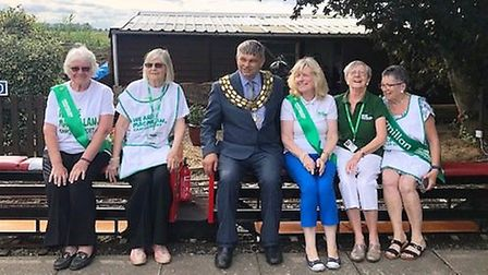 Mayor of March councillor Rob Skoulding at the Dunham's Wood Light Railway fundraiser in aid of Macm