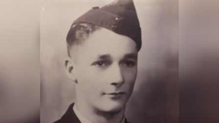 Jim Hocking (pictured) steered his damaged Stirling Bomber plane away from March in 1944, saving man
