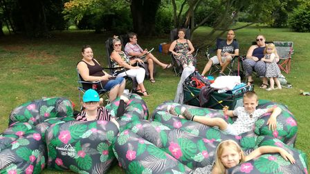 Adults and children alike enjoyed the gardens during the open day. Picture: CONTRIBUTED