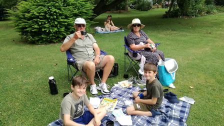 Visitors enjoying their day at The Gardens of Easton Lodge. Picture: CONTRIBUTED