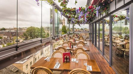 SIX's new Instagram-worthy alfresco rooftop dining space boasts panoramic views of the city. Picture