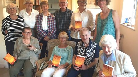 Members of the Ely 2002 Book Club with their winning book 'I Will Find You'. Picture: JANINE HORNSBY