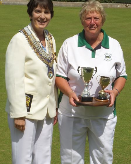 Successful Margaret Hunt (right) is pictured with North Cambs women's president Sue Tolliday. Pictur