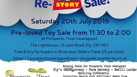Eco-friendly farm shop Prospects Trust Unwrapped will be holding a used toy re-homing sale this week
