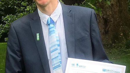 Alan Parkinson is now one of the UK's first United Nations-accredited climate change teachers. Pictu