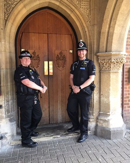 PC Sonia Green and PC Joe Whitehead will be focussed on policing in Saffron Walden. Picture: ARCHANT