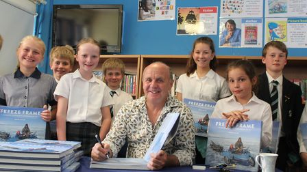 Wildlife cameraman Doug Allan's visit goes down a storm at King's Ely Junior. Picture: KING'S ELY.