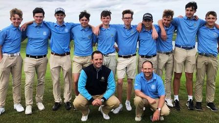 The Cambridgeshire Boys Under 18s team that has won the East Midlands League for the first time. Pic