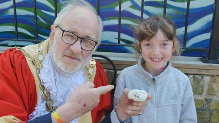 A sprinkling of rocks superpower spruced up Ely High Street to raise awareness of independent shops