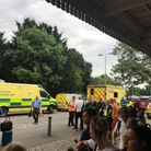 Uncertainty over train times, delays and passengers taken ill because of the hot weather formed part