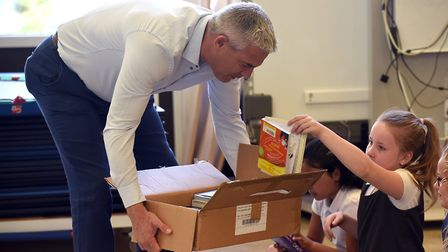 Read to Succeed 2019: Pupils with their donated books at Friday Bridge Primary School. Picture: IAN
