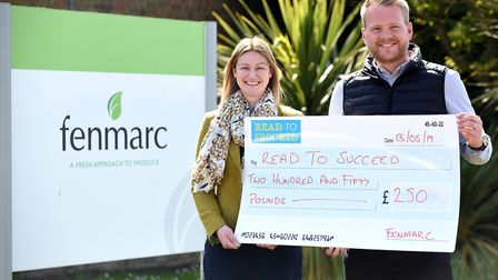 Read to Succeed 2019: Fenmarc with their cheque donation. Picture: IAN CARTER.