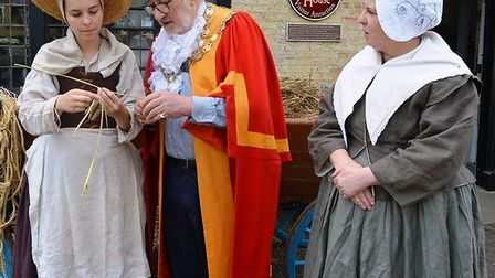 Mayor of Ely, Cllr Mike Rouse, attended a celebratory event at Oliver Cromwell's House on Saturday.