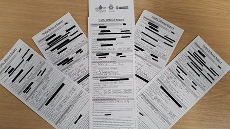 East Cambs 'trophy cabinet' showing off the speeding tickets at the ready for a day of action in Ely