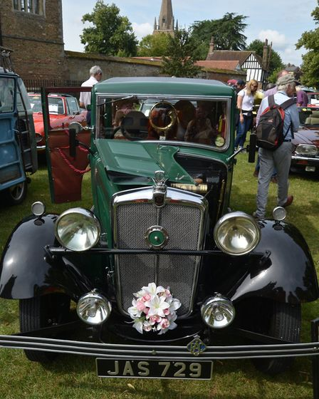 Polished! More than 90 classic motors were on display at Palace Green in Ely at the weekend for a ch