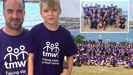 Pictured is Damien Whales. A total of 270 people took part in the gruelling three-day Dorset trek in