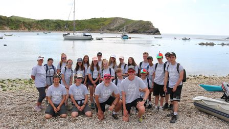 Pictured is students from Witchford Lulworth. A total of 270 people took part in the gruelling three
